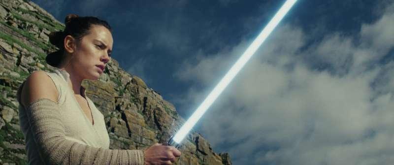 《星際大戰八部曲:最後的絕地武士》中的角色 芮(Rey)。(美聯社)