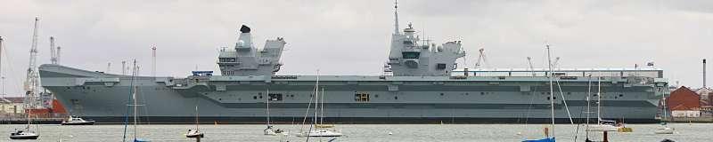 英國皇家海軍航空母艦伊麗莎白女王號。(Nick Goodrum@Wikipedia/CC BY 2.0)