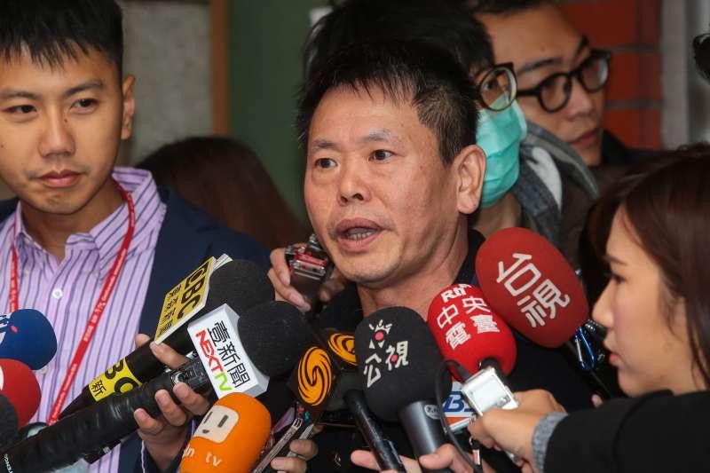 20171208-國民黨書記長林為洲8日於黨團大會後接受媒體聯訪。(顏麟宇攝)