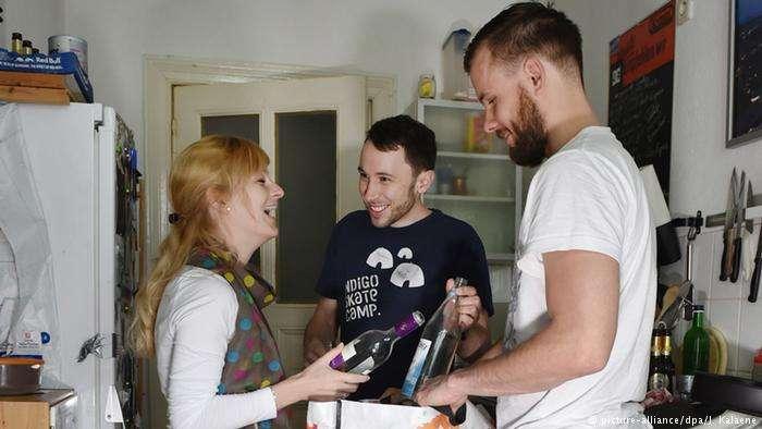 在德國,很多大學生、青年都喜歡相對實惠的合租方式。(德國之聲)