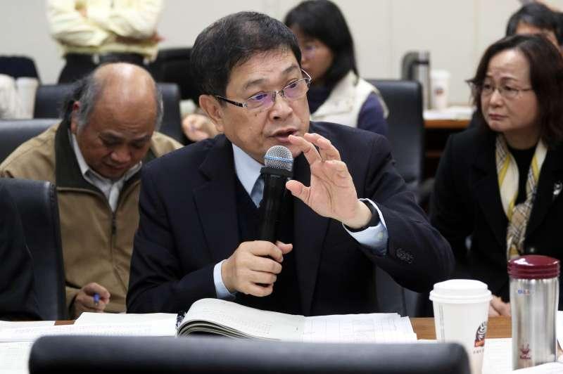 20171213-立法院經濟委員會,台電董事長楊偉甫。(蘇仲泓攝)