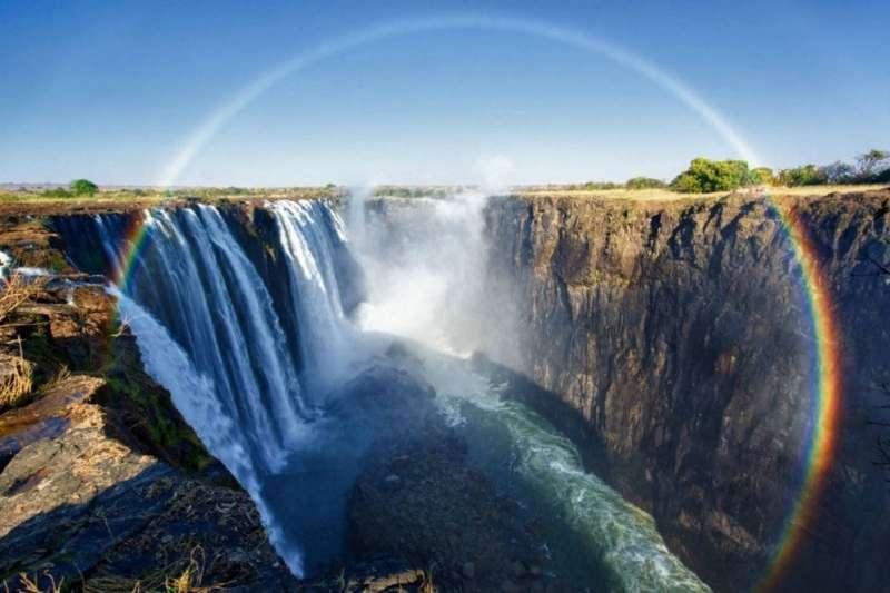 維多利亞瀑布其壯闊美景,是許多人來到非洲必看景點!(圖/businessdaily)