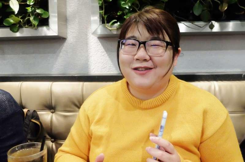 《咬一口馬克思的水煎包》作者張慧慈(謝孟穎攝)