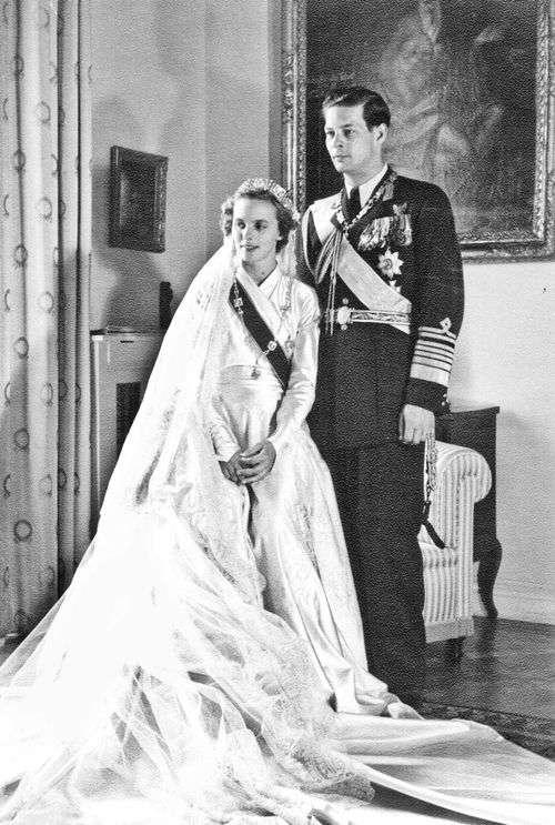 羅馬尼亞末代國王米哈伊(King Michael)與安妮王后(Queen Anne)1948年的婚禮(Wikipedia / Public Domain)