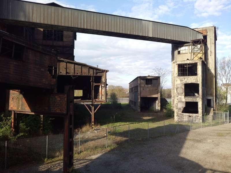20171218-維柯維奇製鐵工業工廠(Víkovice Ironworks)的大煙囪。(馬萱人提供)