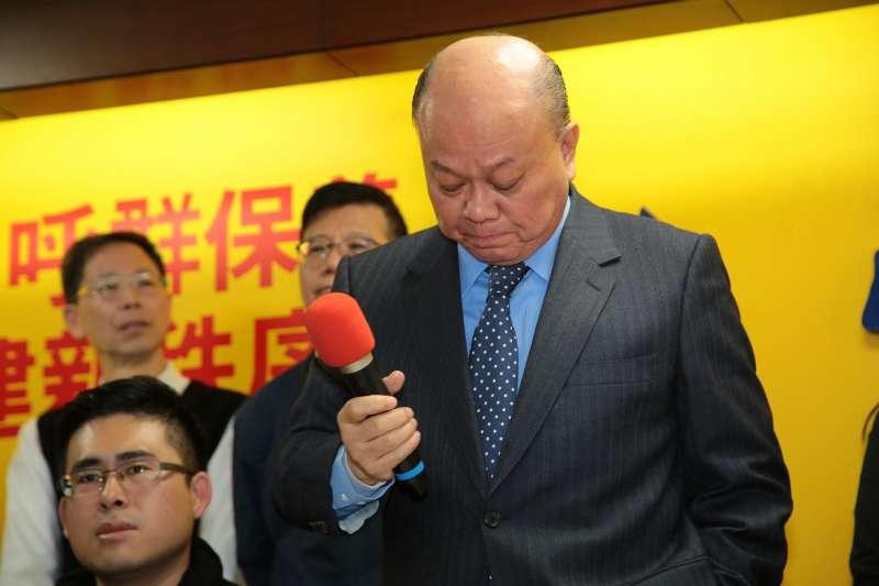 20171220-新黨副主席李勝峰神情相當難過。(顏麟宇攝)