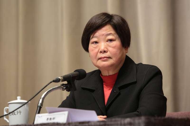 20171221-勞動部長林美珠21日於行政院針對《勞基法》修法,召開臨時記者會說明。(顏麟宇攝)