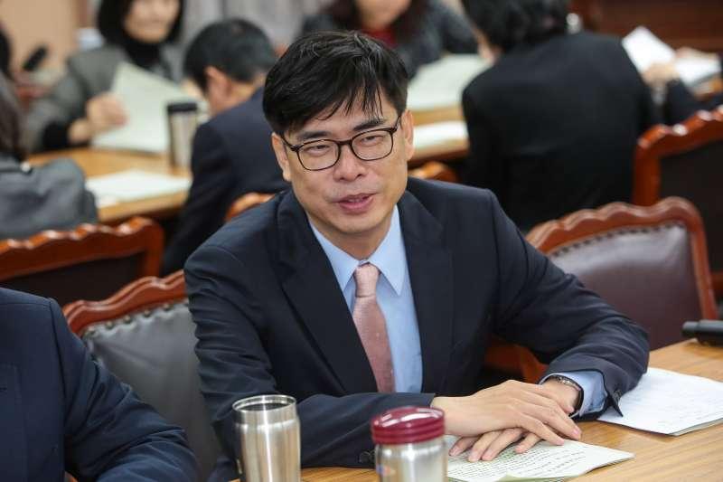 20171221-民進黨立委陳其邁21日出席內政委員會預算審查。(顏麟宇攝)