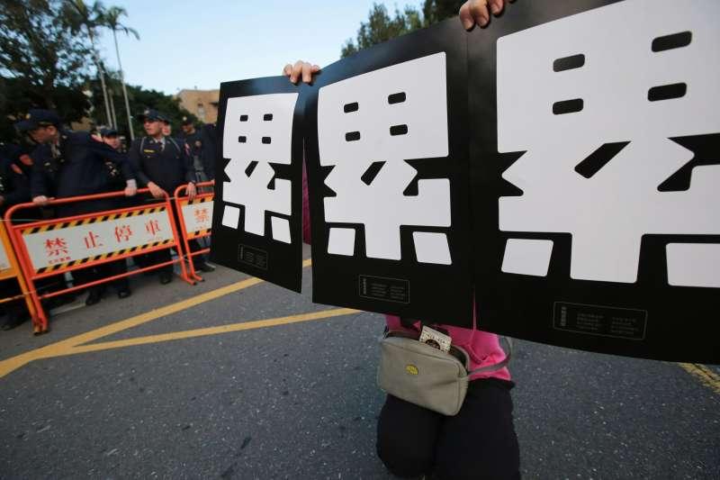 20171223-勞工大遊行,勞團抗議勞基法休法、一例一休、輪班間隔。(顏麟宇攝)