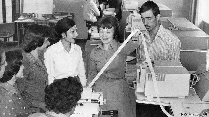 1980年代的阿富汗大學,蘇聯教師當時很常見。(德國之聲)