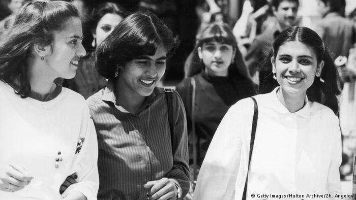 1970年代的阿富汗女學生。(德國之聲)