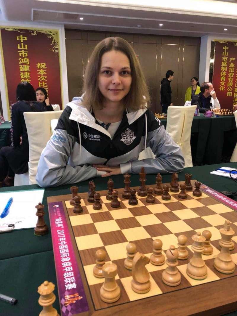 烏克蘭女子西洋棋棋手、特級大師大穆茲丘克(Anna Muzychuk)。(取自臉書)