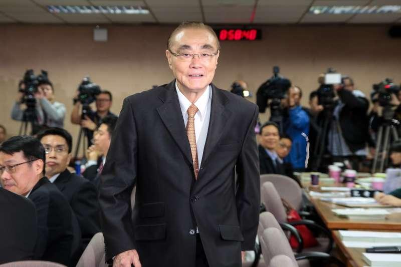 20171227-國防部長馮世寬27日出席外交國防委員會。(顏麟宇攝)