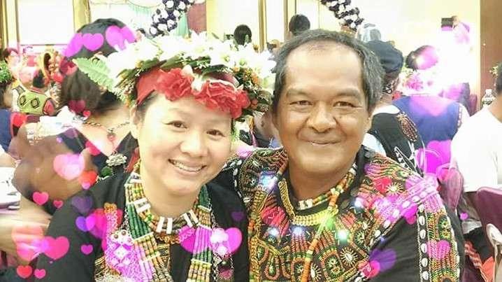 阮天莊嫁至屏東原住民部落,和先生鶼鰈情深。(圖片來源:阮天莊提供)