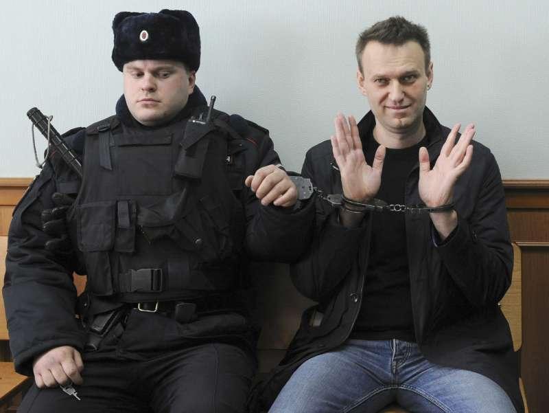 俄羅斯反對派人士納瓦爾尼,被禁止參加2018年俄羅斯總統大選。(美聯社)