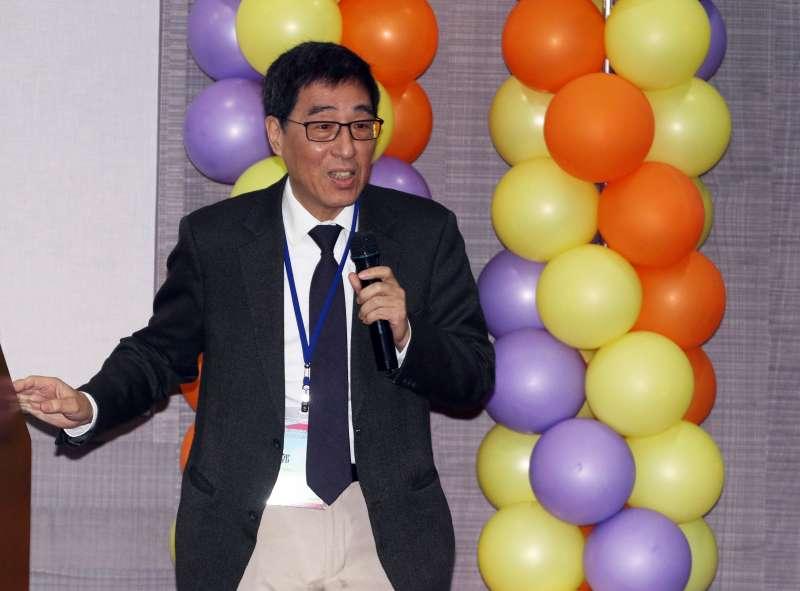 20171227-中華民國核能學會上午舉行第31屆第1次會員大會,香港城市大學校長郭位應邀出席演講。(蘇仲泓攝)