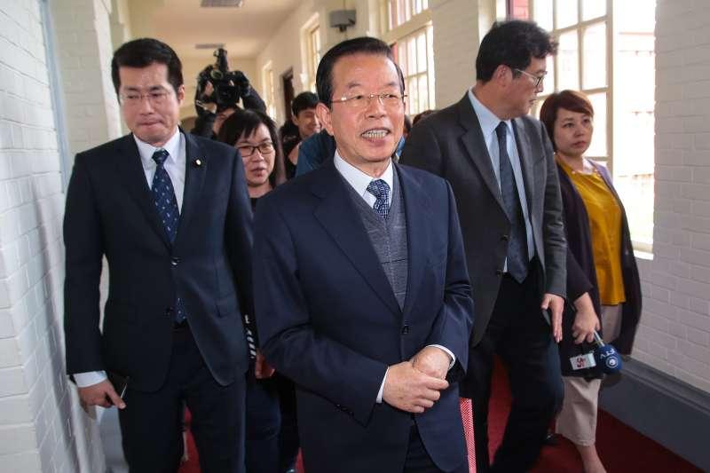 20171228-駐日代表謝長廷28日陪同前日本參議員江口克彥智立院拜會院長蘇嘉全。(顏麟宇攝)