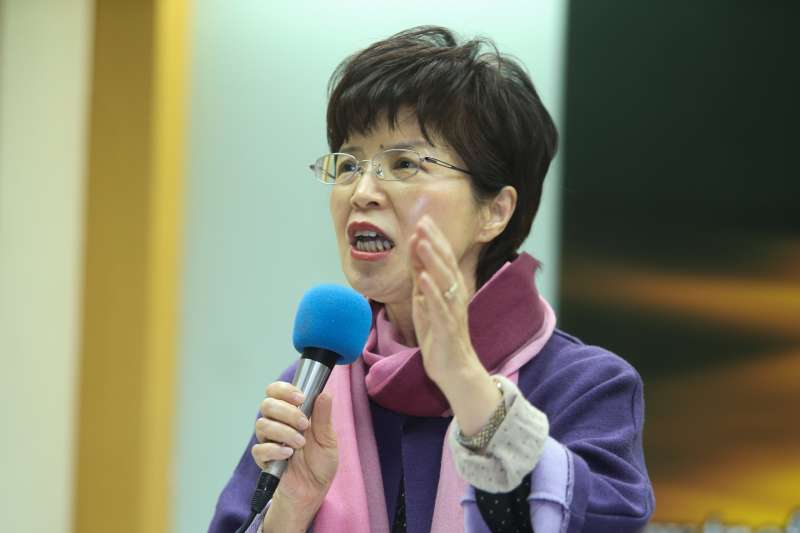 教授廖達琪,出席台灣民意基金會舉行「2017年終台灣重大民意走向」民調發表會。(陳明仁攝)