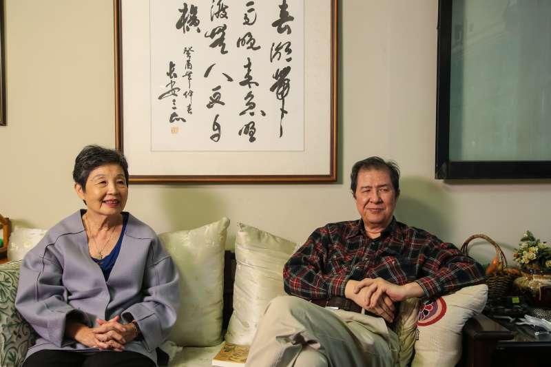20171228-林茂生孫女林玲文(左)專訪,陪同者為雅歌出版社蘇南洲社長(右)。(顏麟宇攝)