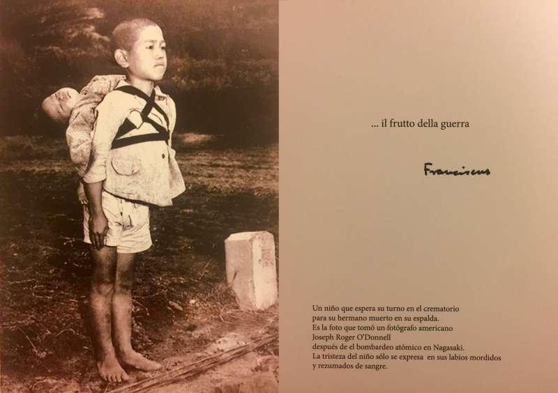 2017─2018,教宗方濟各的卡片,「火葬場邊上的男孩」(Vatican Press Office)