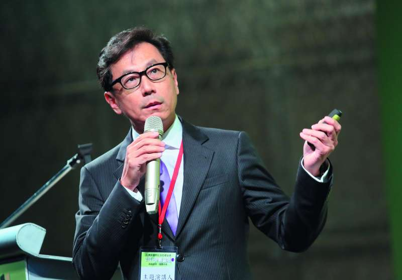 蔡明忠(圖)與鴻海結盟,讓凱擘成為有線電視產業最大霸主。(柯承惠攝)
