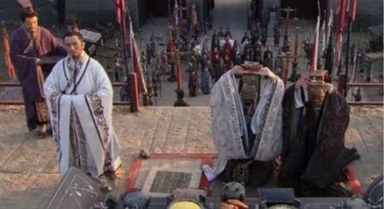 齊威王(右二)與魏惠王(右一)「徐州相王」。(取自澎湃新聞)