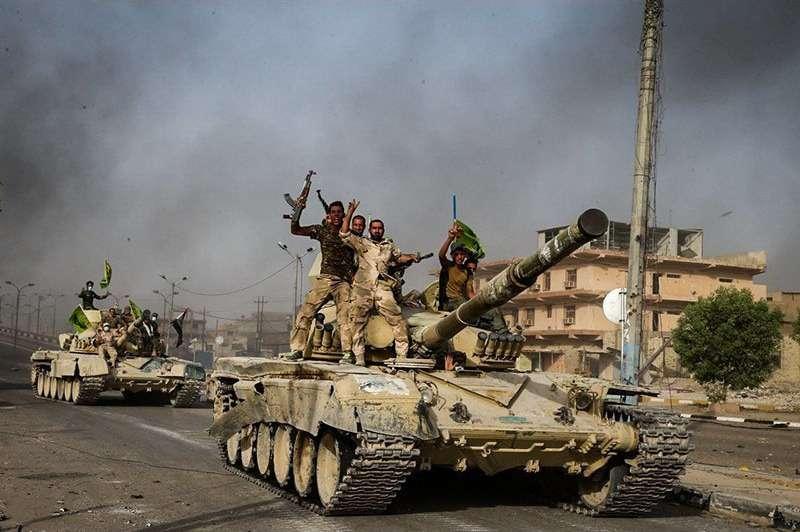 奪回費魯嘉鎮的什葉派人民動員軍。(圖/TasnimNewsAgency@wikipediaCCBYSA4.0)