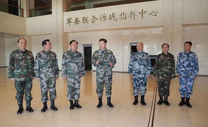 習近平視察軍委聯合作戰指揮中心。
