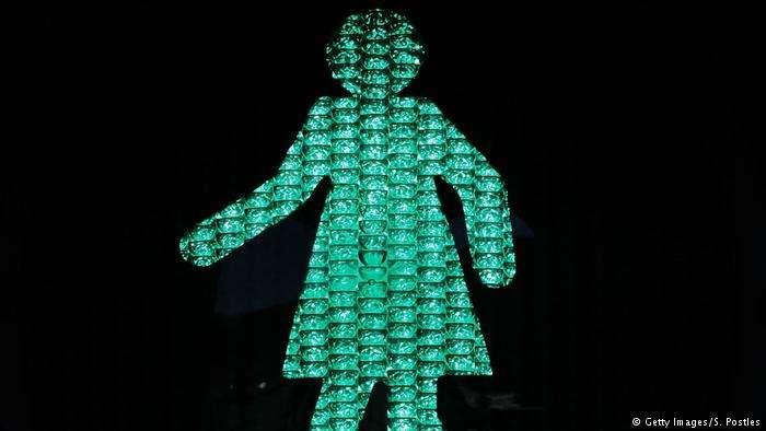澳洲墨爾本「小綠女」紅綠燈。(德國之聲)
