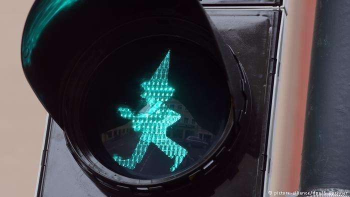 德國「卡斯佩爾」(Kasperl)紅綠燈。卡斯佩爾為德國木偶劇經典主角。(德國之聲)