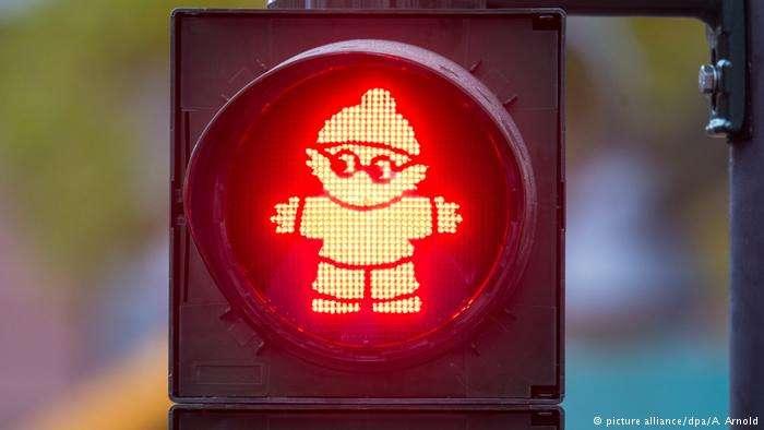 德國「美因茨小人」紅綠燈。(德國之聲)
