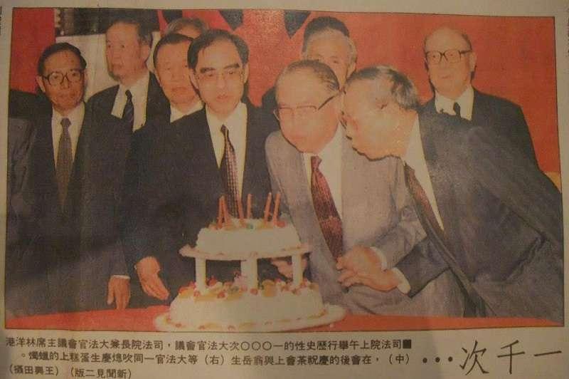 故大法官吳庚參與過368個憲法解釋。(取自吳庚臉書粉絲頁)