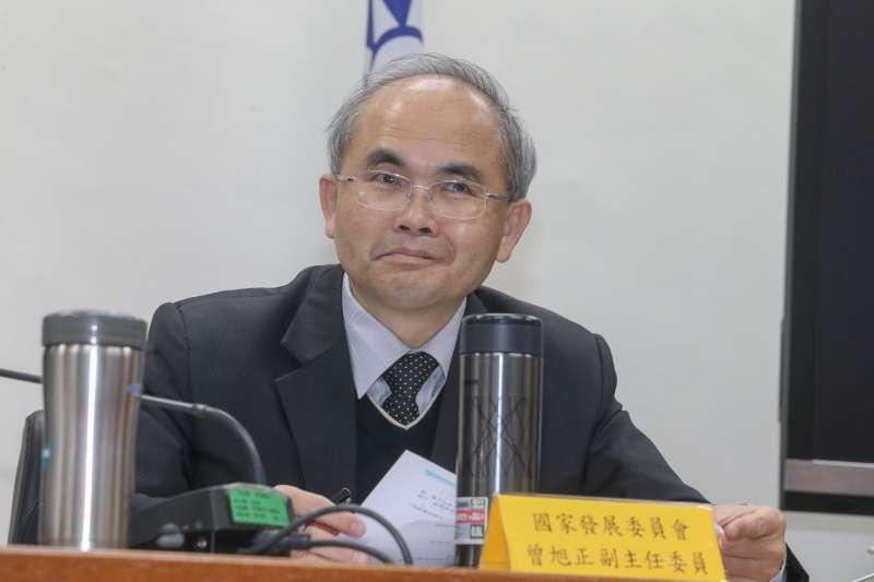 國發會副主委曾旭正,出席立法院,「亞洲新灣區產業發展策略」座談會。(陳明仁攝)