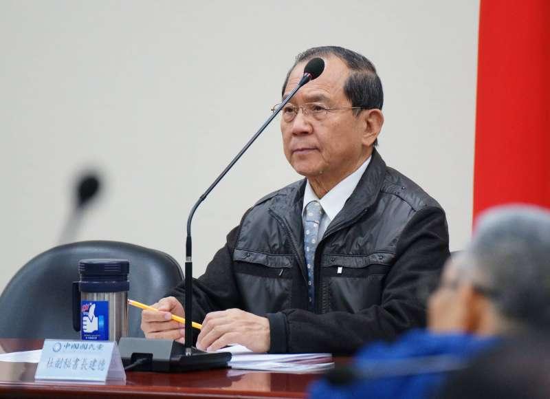 20180110-國民黨副秘書長杜建德出席國民黨中常會。(盧逸峰攝)