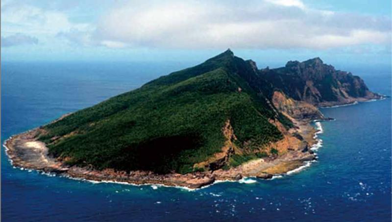 被日本稱為尖閣諸島的釣魚台列嶼。
