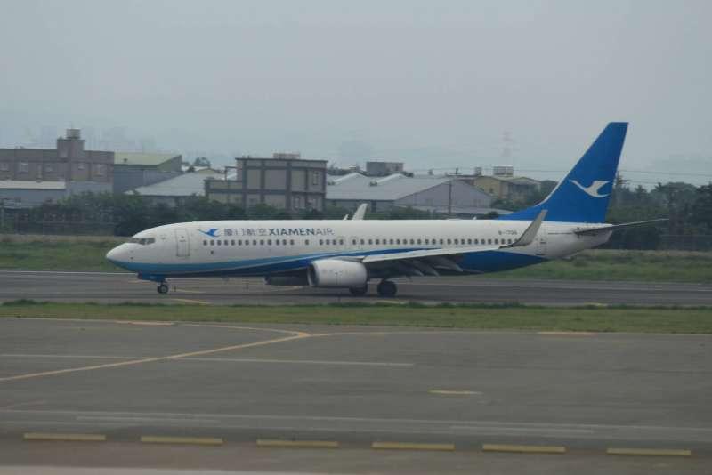 飛行M503航線的四家民航機,廈門航空。(方炳超攝)
