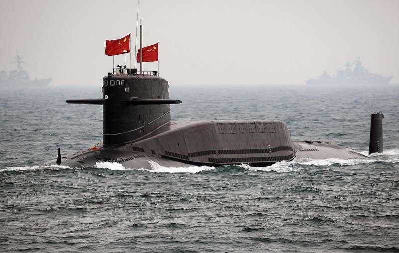 日本防衛相小野寺五典稱,中國商級攻擊型核動力潛艦日前在釣魚台鄰近海域航行(翻攝網路)