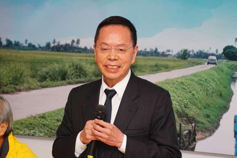 20180115-學術界支持農田水利會改制記者會,前主委李金龍發言。(盧逸峰攝)