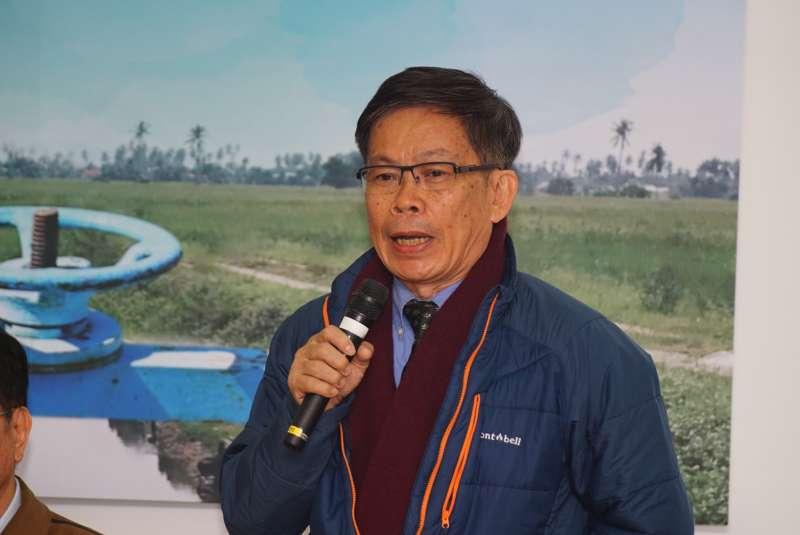 20180115-學術界支持農田水利會改制記者會,屏科大王裕民教授出席。(盧逸峰攝)
