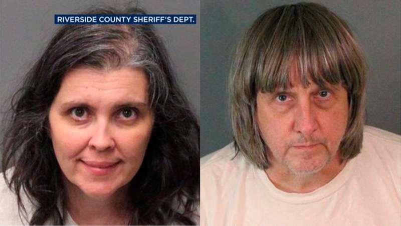 57歲的特賓和49歲的妻子露易絲.安娜.特賓涉嫌虐兒,囚禁13名孩子並以鎖鍊鍊住他們。(美聯社)