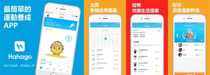 超過 10 萬用戶下載的超夯運動社群平台 Hahago(圖/Hahago提供)