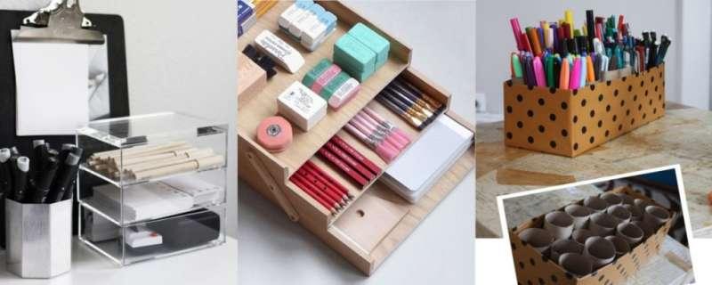 筆筒文具收納組不僅是辦公室必備的收納小物,更是可以妝點自己辦公桌風格的好物(圖/女子學提供)