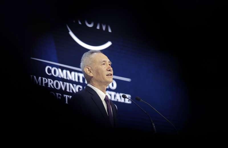 中共中央政治局委員、中央財經領導小組辦公室主任劉鶴出席在蘇黎世舉行的世界經濟論壇(WEF)第48屆年會(AP)