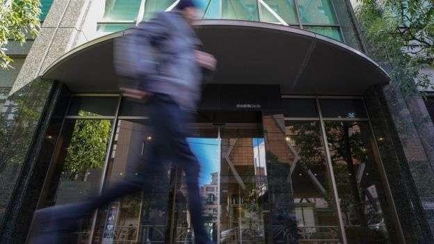 Coincheck總部位於東京澀谷區,該公司因駭客攻擊損失了價值33.7億元人民幣的資產。(BBC中文網)