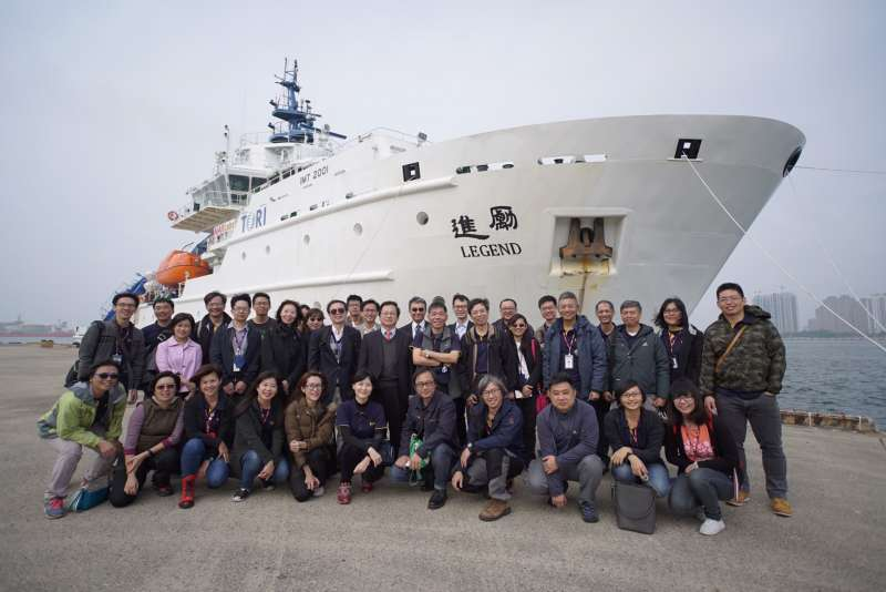 國研院購置的海洋研究船「勵進號」18日抵台,被外界質疑尚未完成驗收就返台。(取自國家實驗研究院網站)