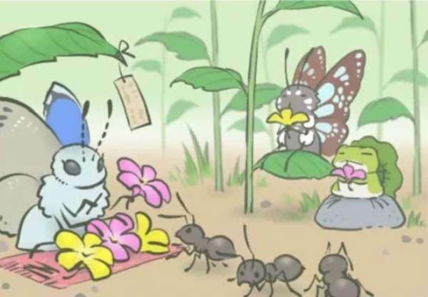 左邊賣花的那位老板是某種灰蝶。(圖/澎湃新聞)