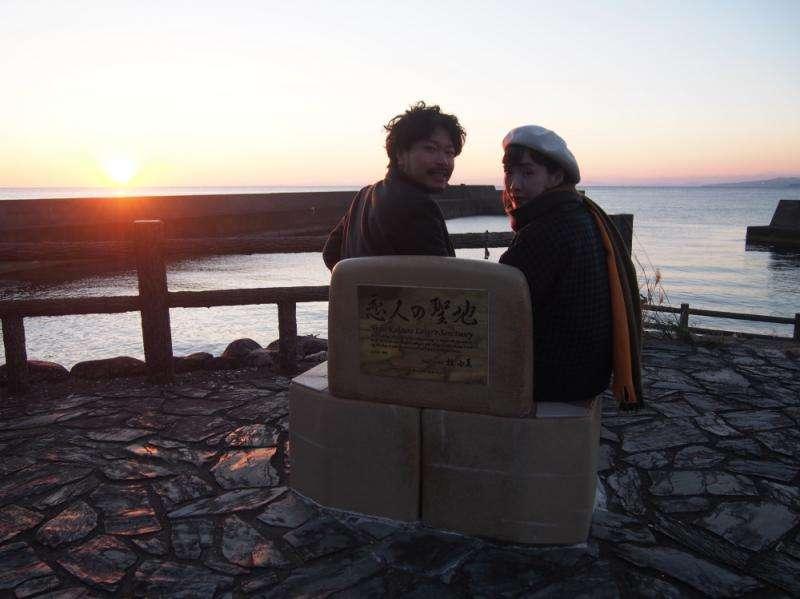 熱門旅遊景點:大山岬,2011年被評選為「戀人的聖地」。(圖/高知縣安藝市)