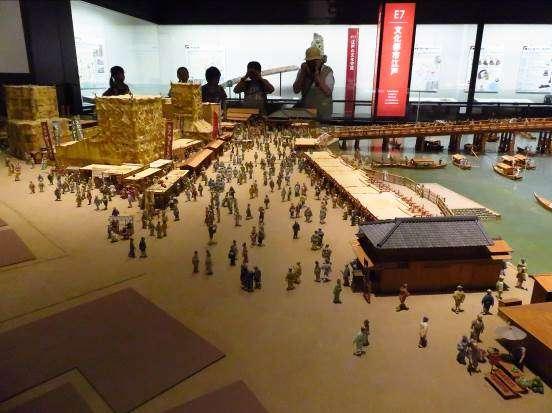 江戶時期商業街模型。攝影:路向南