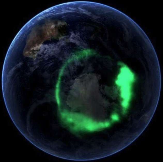 「IMAGE」衛星拍攝的極光(Wikipedia / Public Domain)