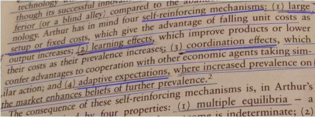 圖二:North (1990, p. 94)註腳2說明利用自Arthur (1988, p. 18)的內容(作者提供)